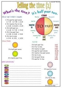 Telling the time worksheet part 2 worksheet - Free ESL ...