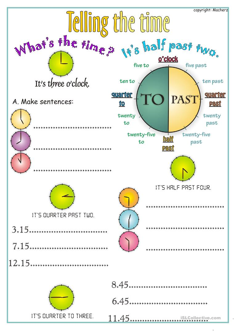 hight resolution of Telling the time worksheet - English ESL Worksheets for distance learning  and physical classrooms