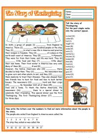 Thanksgiving Fun Worksheets For Middle School ...