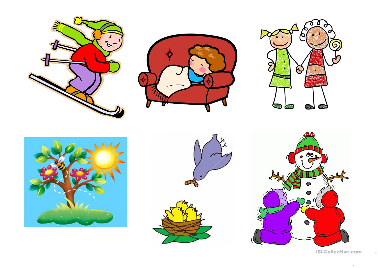Winter Vocabulary Amp The Four Seasons Worksheet