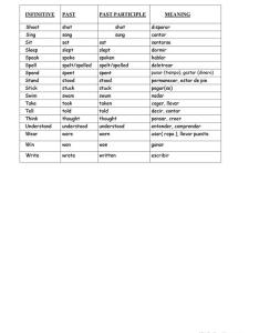 Irregular verbs list with meanings in spanish also worksheet free esl rh enlcollective