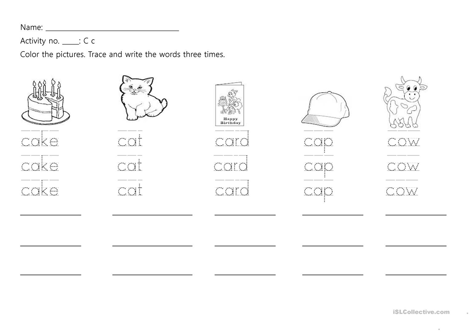 A Z Phonics Writing Practice Worksheet