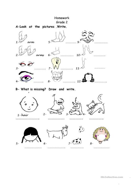 small resolution of body parts - English ESL Worksheets for distance learning and physical  classrooms
