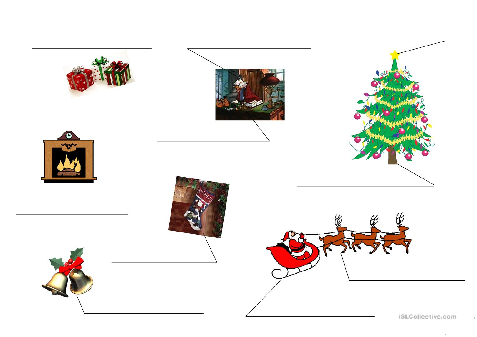 Christmas Objects Worksheet