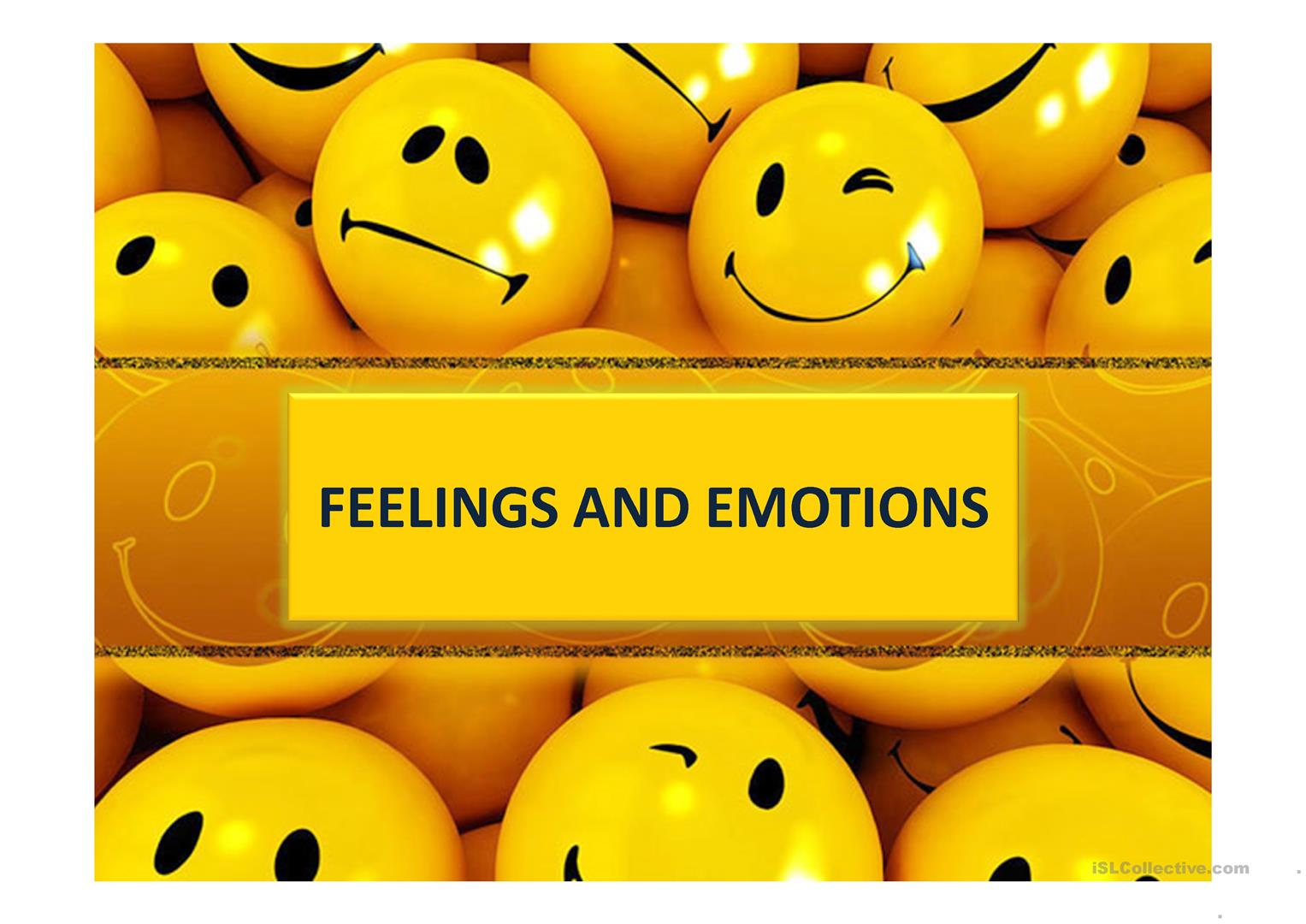 Feelings Amp Emotions Worksheet