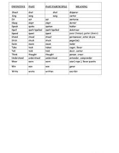 Irregular verbs list with meanings in spanish full screen also worksheet free esl rh enlcollective