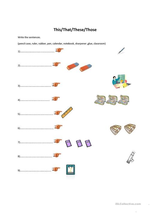 small resolution of this/that/these/those-classroom objects - English ESL Worksheets for  distance learning and physical classrooms