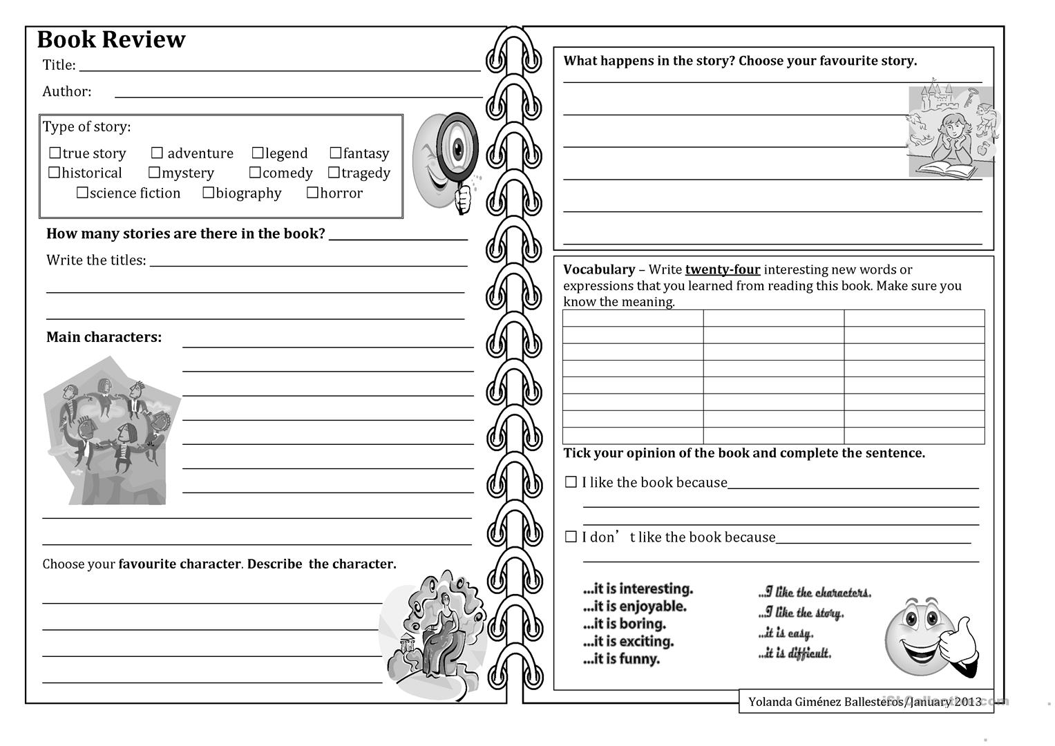 Beginners Book Review Worksheet