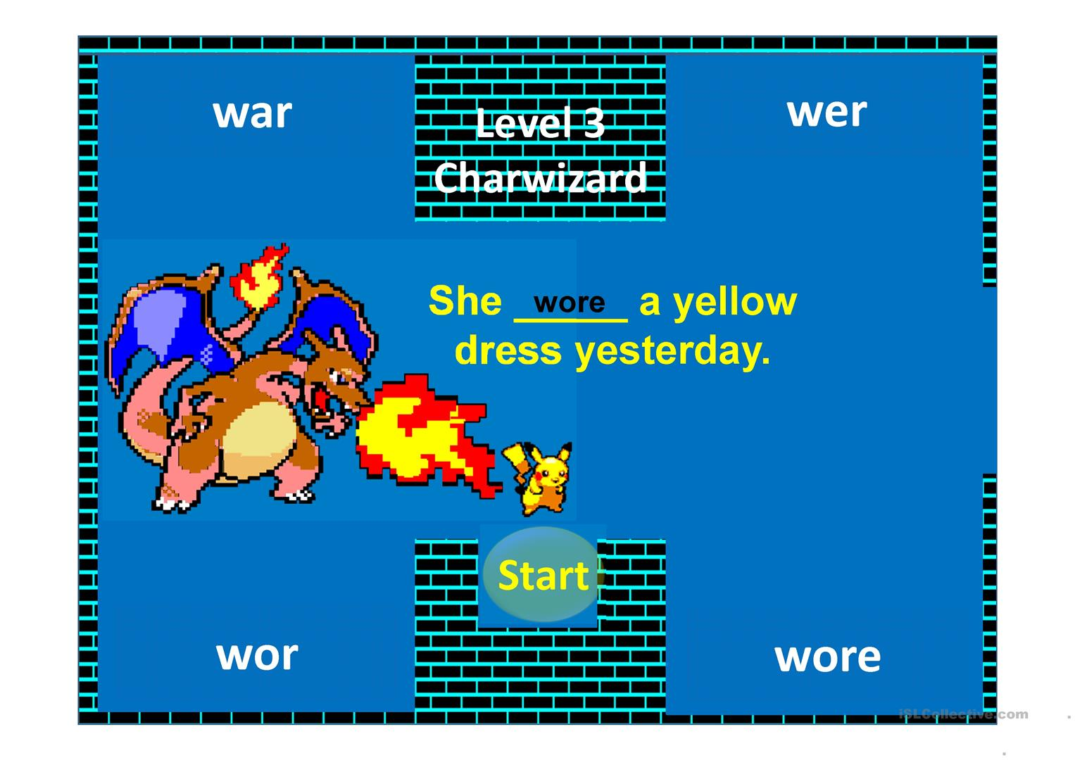 Confusing Words With Pikachu A Cursor Game Worksheet