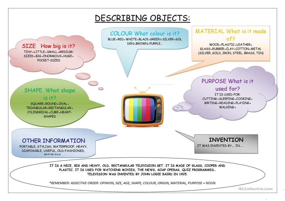 medium resolution of English ESL describing objects worksheets - Most downloaded (14 Results)