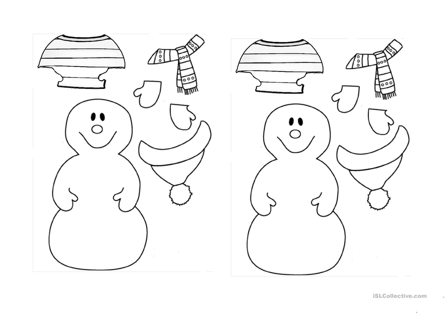 Dress The Snowman For Winter