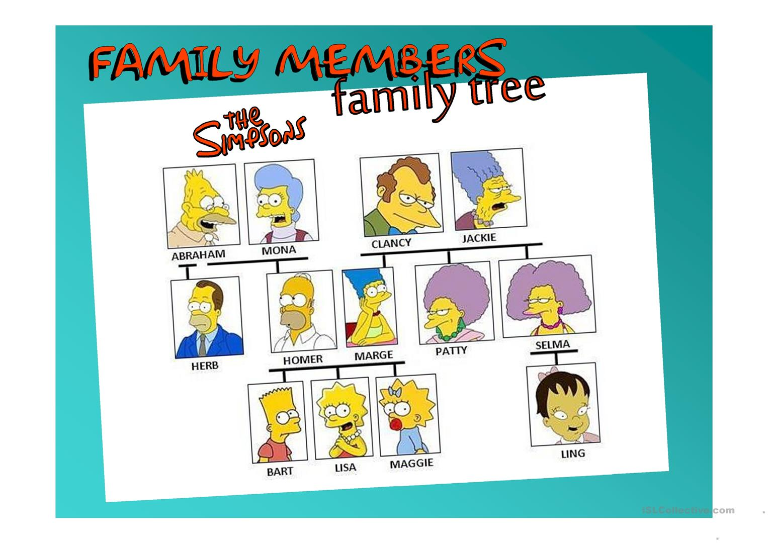 Family Members Ppt Worksheet