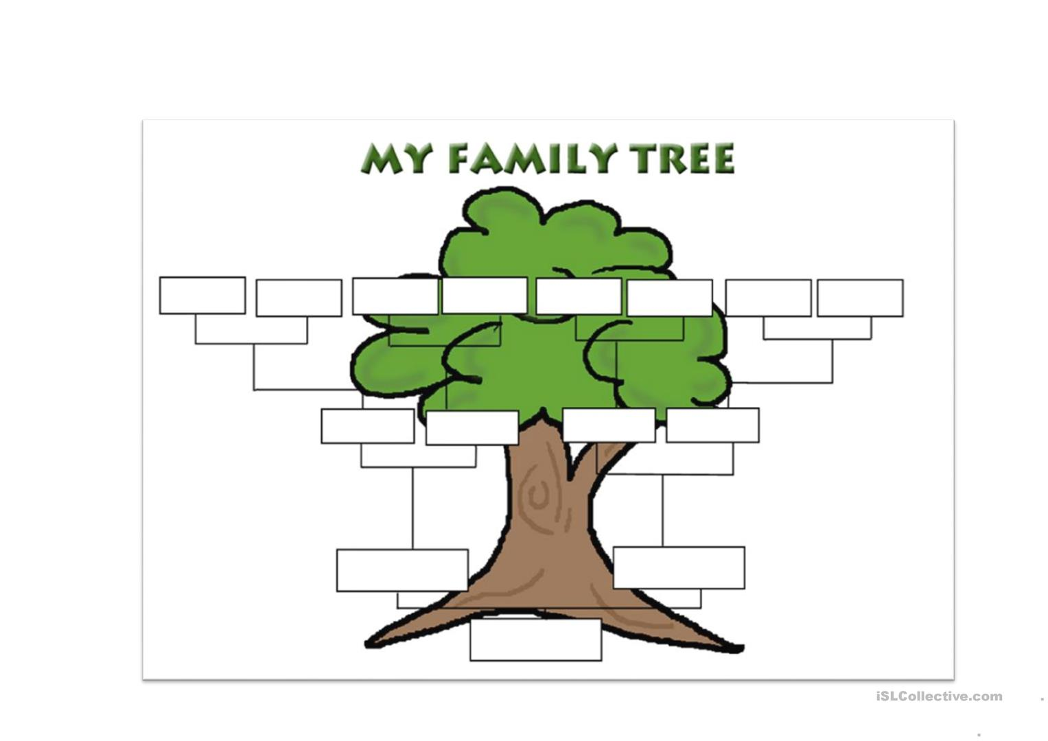 Family Tree Template Worksheet