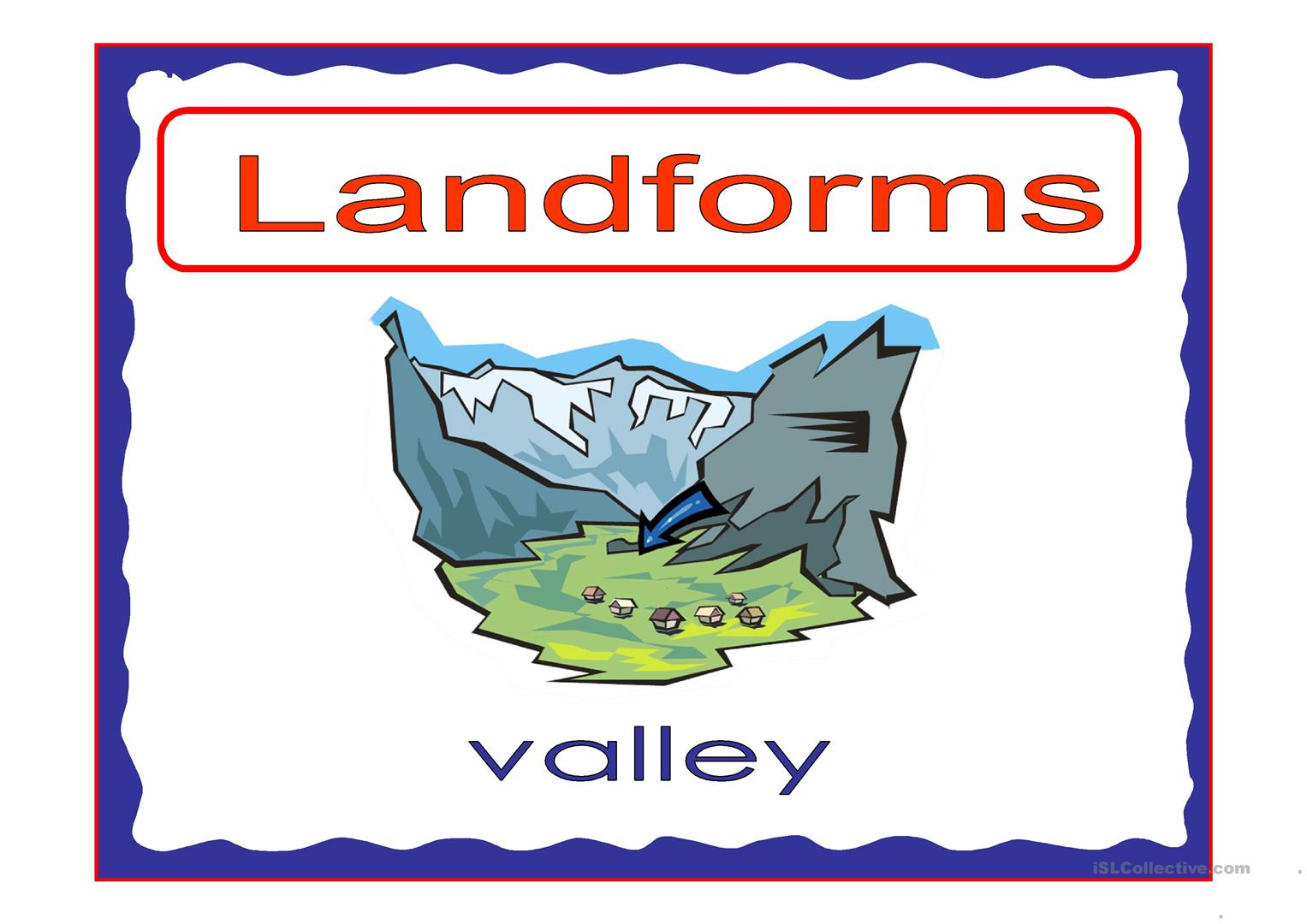 Landforms 2 Worksheet