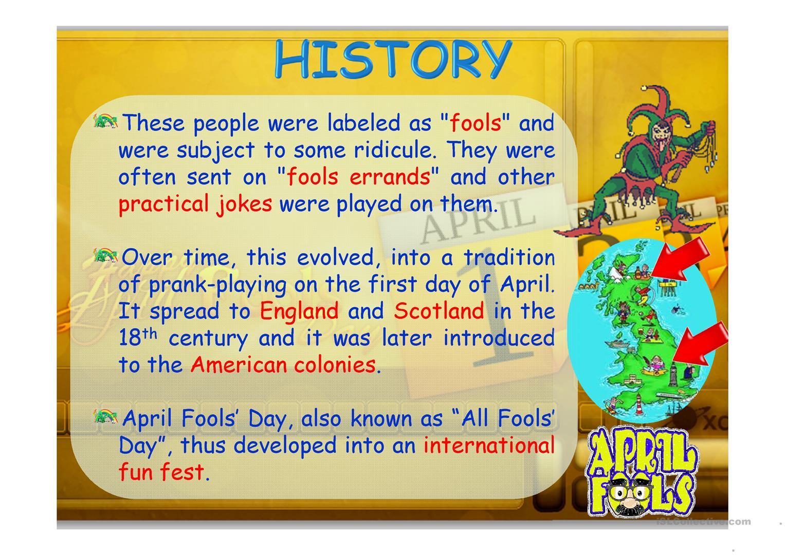 April Fools Day Worksheet