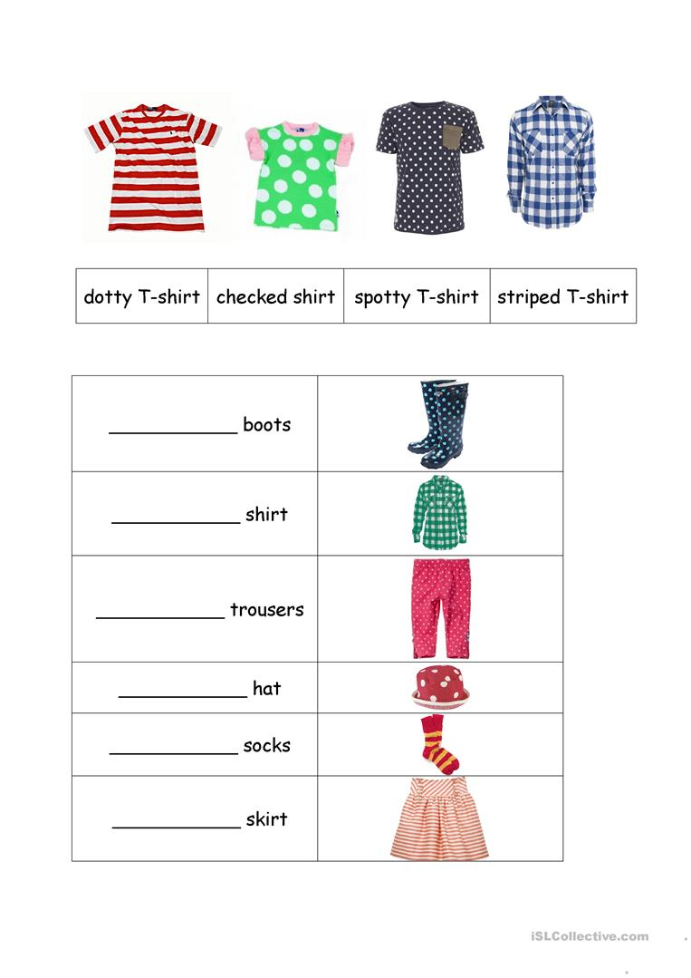 Clothes Patterns Worksheet
