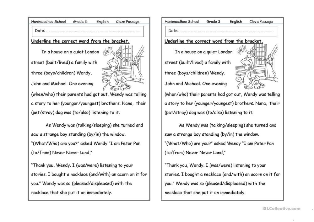 medium resolution of cloze passage - English ESL Worksheets for distance learning and physical  classrooms