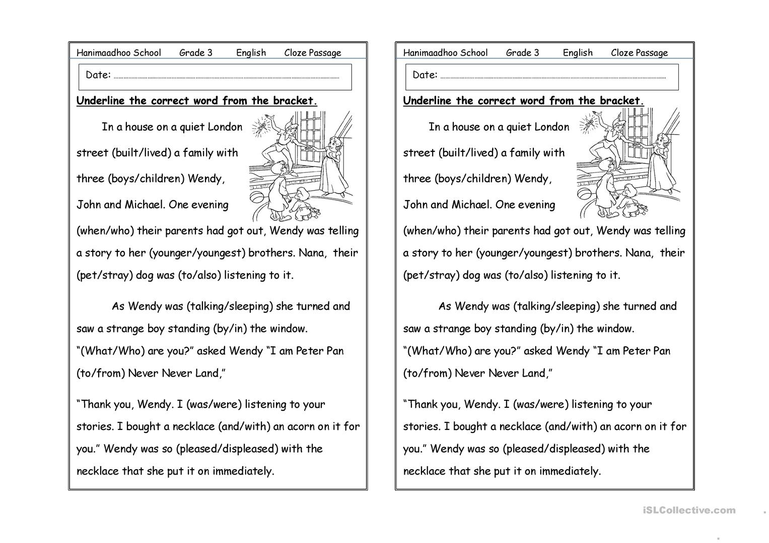 hight resolution of cloze passage - English ESL Worksheets for distance learning and physical  classrooms