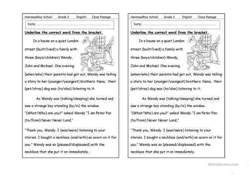 small resolution of cloze passage - English ESL Worksheets for distance learning and physical  classrooms