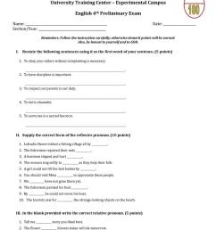 Grade 7 Unit Test - English ESL Worksheets for distance learning and  physical classrooms [ 1079 x 763 Pixel ]
