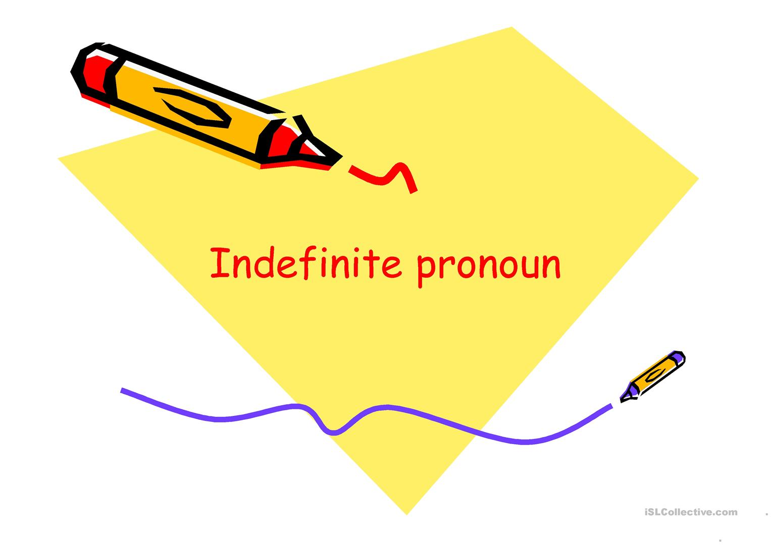 Indefinite Pronouns Worksheet Doc