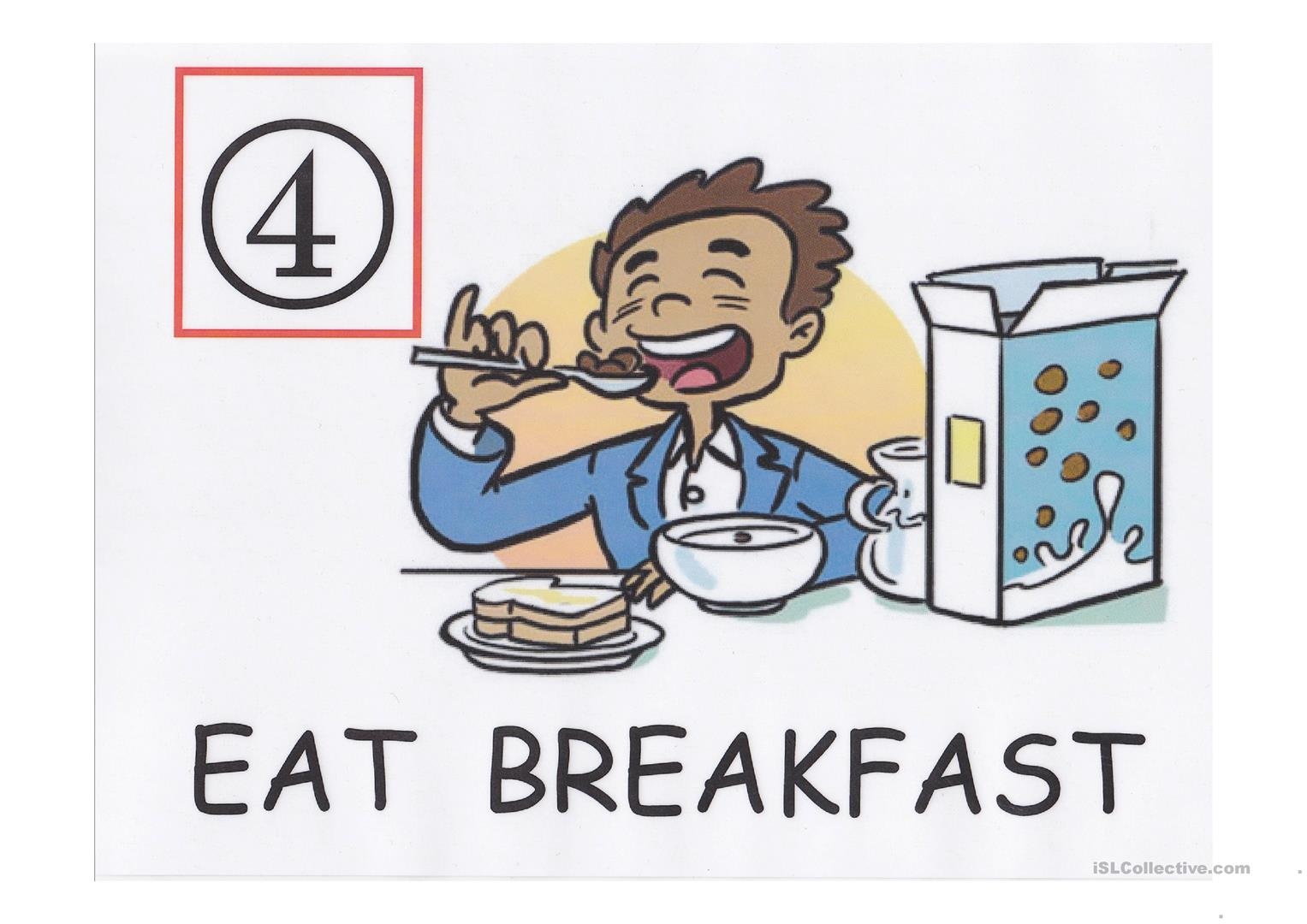 Morning Routine A4 Flash Cards Set 1