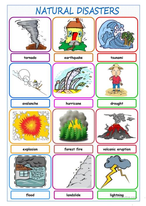 small resolution of English ESL natural disasters worksheets - Most downloaded (52 Results)