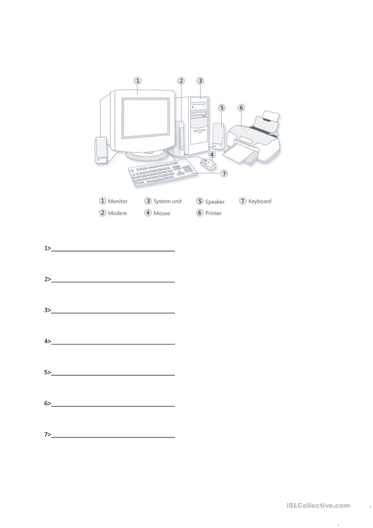 hight resolution of Parts Of Computer - English ESL Worksheets for distance learning and  physical classrooms