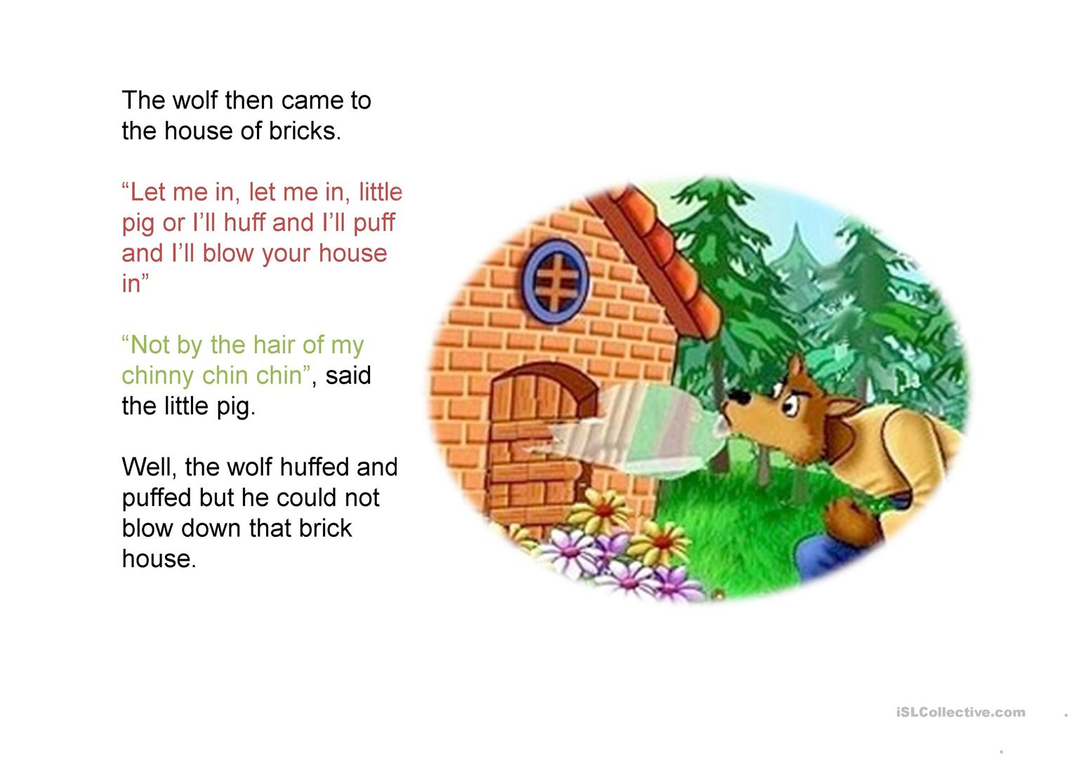 hight resolution of the three little pigs story worksheet free esl projectablechin diagram pig 18