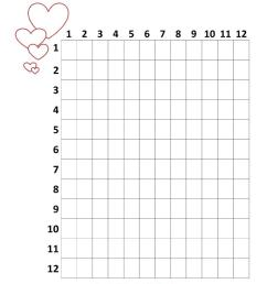 Valentine's Day Multiplication Chart - 3rd Grade - English ESL Worksheets  for distance learning and physical classrooms [ 1079 x 763 Pixel ]