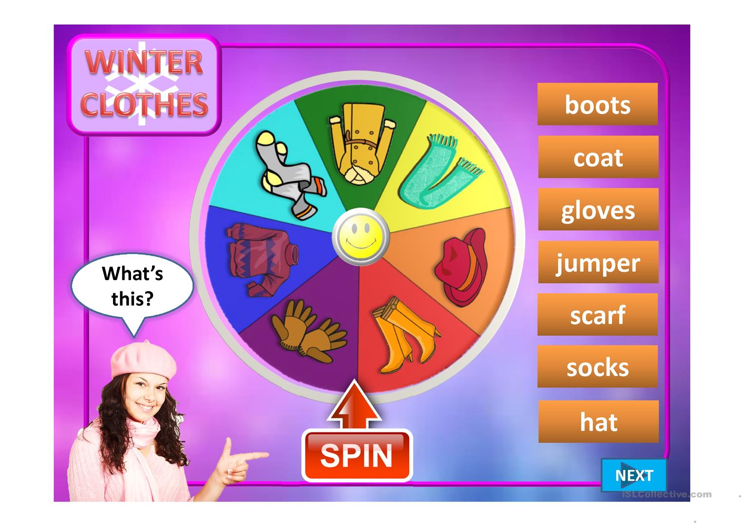 Wheel Of Clothes Ppt Worksheet