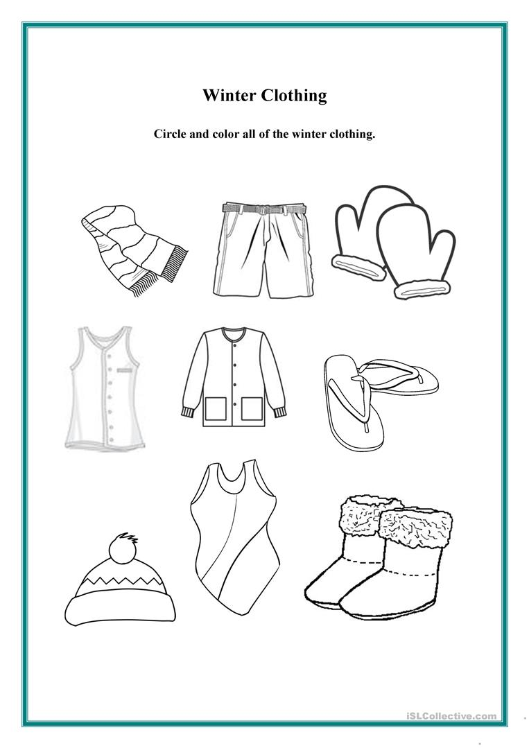 hight resolution of Winter Clothing - English ESL Worksheets for distance learning and physical  classrooms