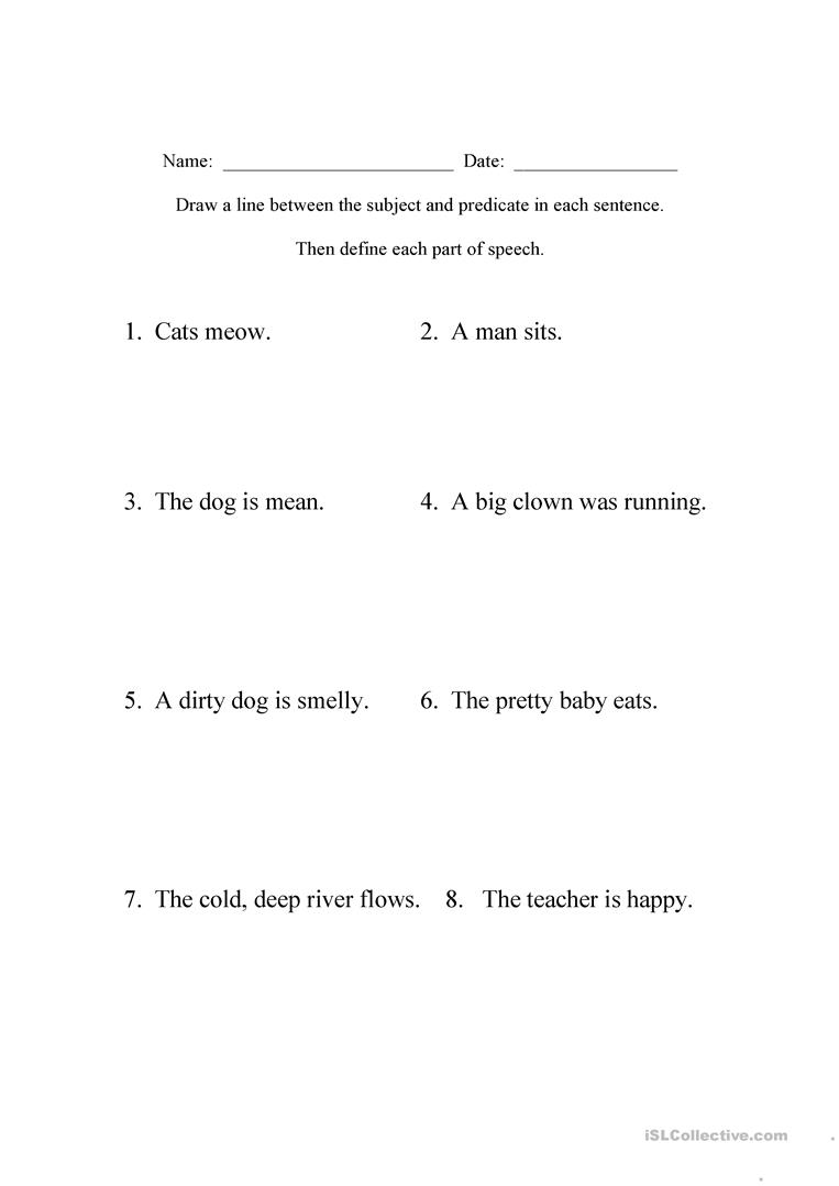 medium resolution of Beginning Sentence Diagramming - English ESL Worksheets for distance  learning and physical classrooms