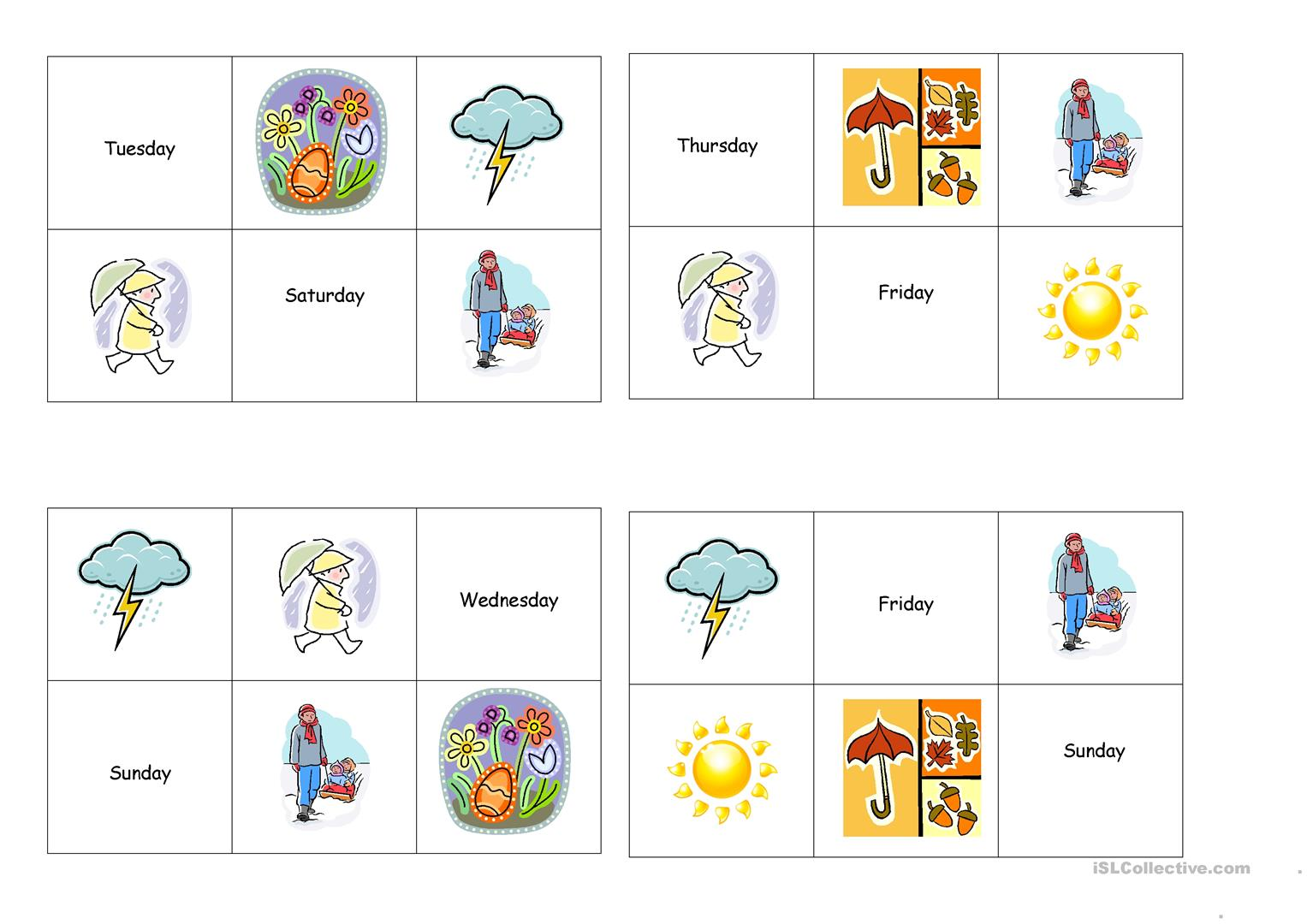 Pre K Worksheet Seasons