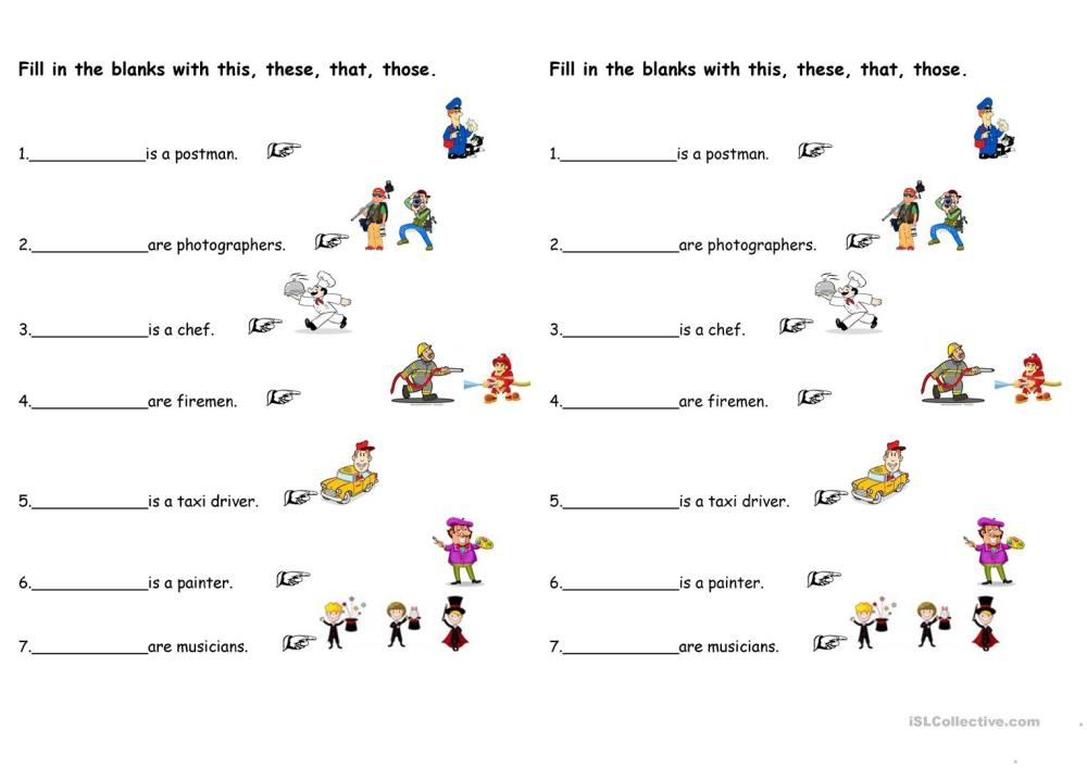 medium resolution of Demonstrative Pronouns - English ESL Worksheets for distance learning and  physical classrooms
