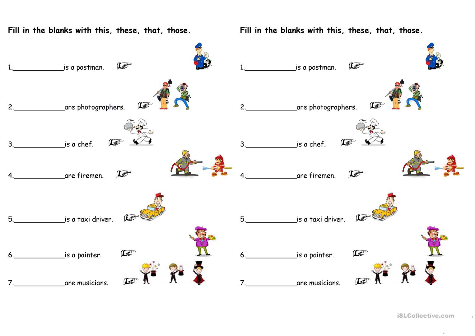 hight resolution of Demonstrative Pronouns - English ESL Worksheets for distance learning and  physical classrooms