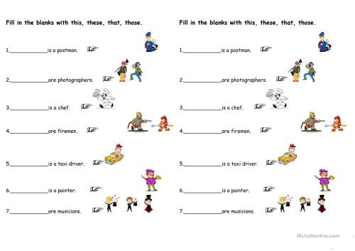 small resolution of Demonstrative Pronouns - English ESL Worksheets for distance learning and  physical classrooms