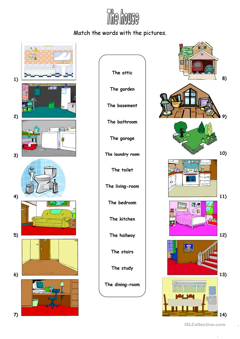 Parts Of The House Worksheet Free Esl Printable – Cute766
