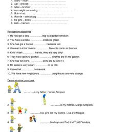 possession- verb BE - English ESL Worksheets for distance learning and  physical classrooms [ 1079 x 763 Pixel ]