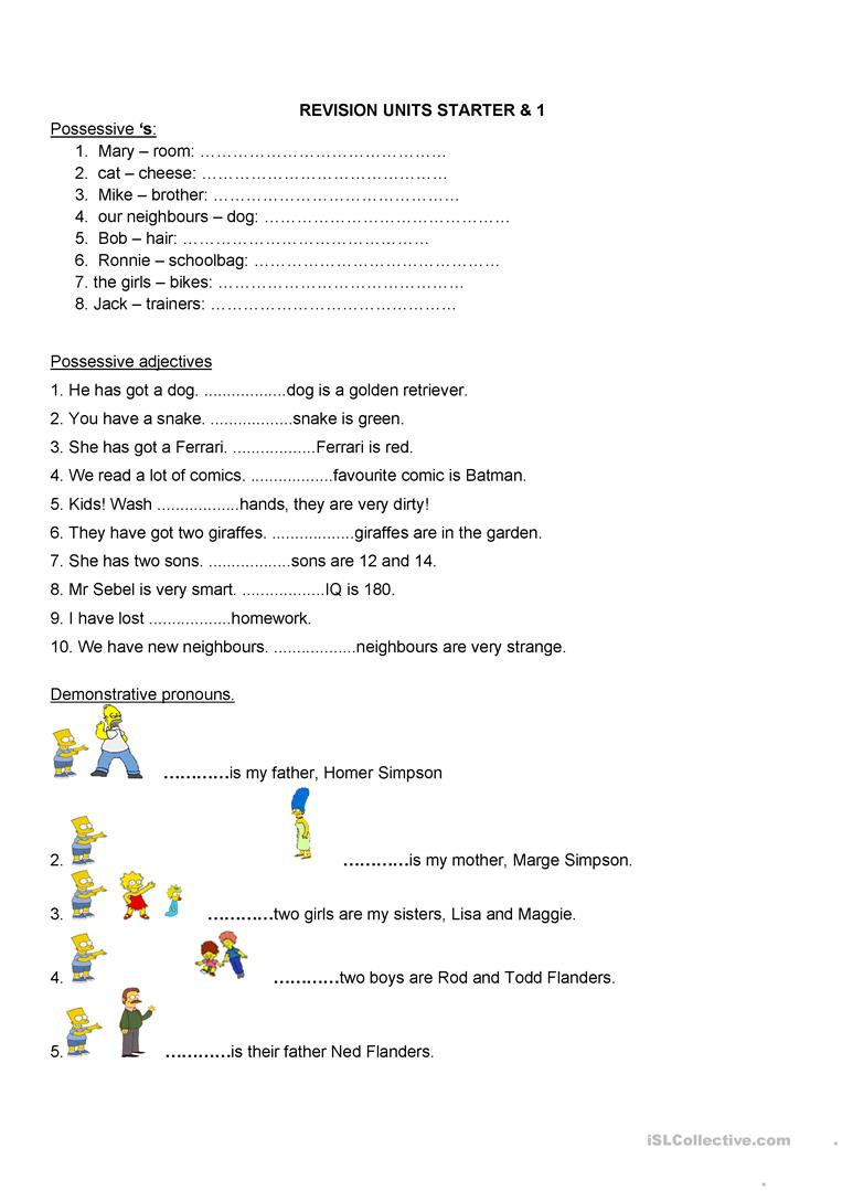 hight resolution of possession- verb BE - English ESL Worksheets for distance learning and  physical classrooms