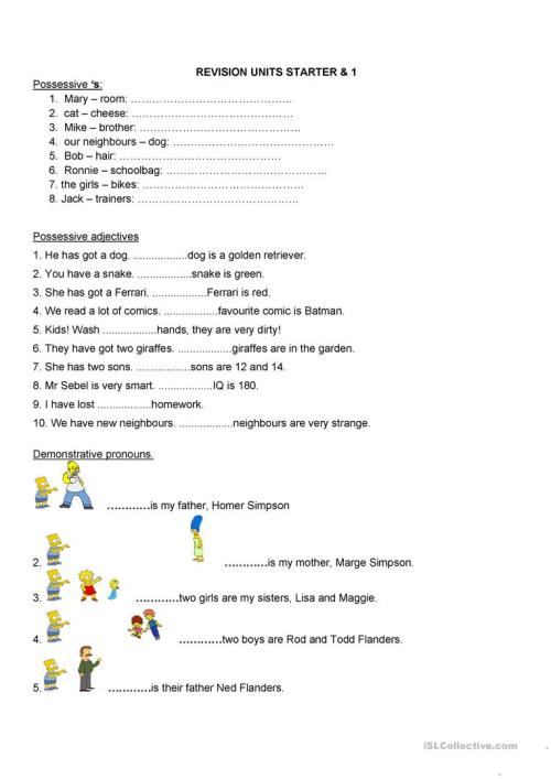 small resolution of possession- verb BE - English ESL Worksheets for distance learning and  physical classrooms