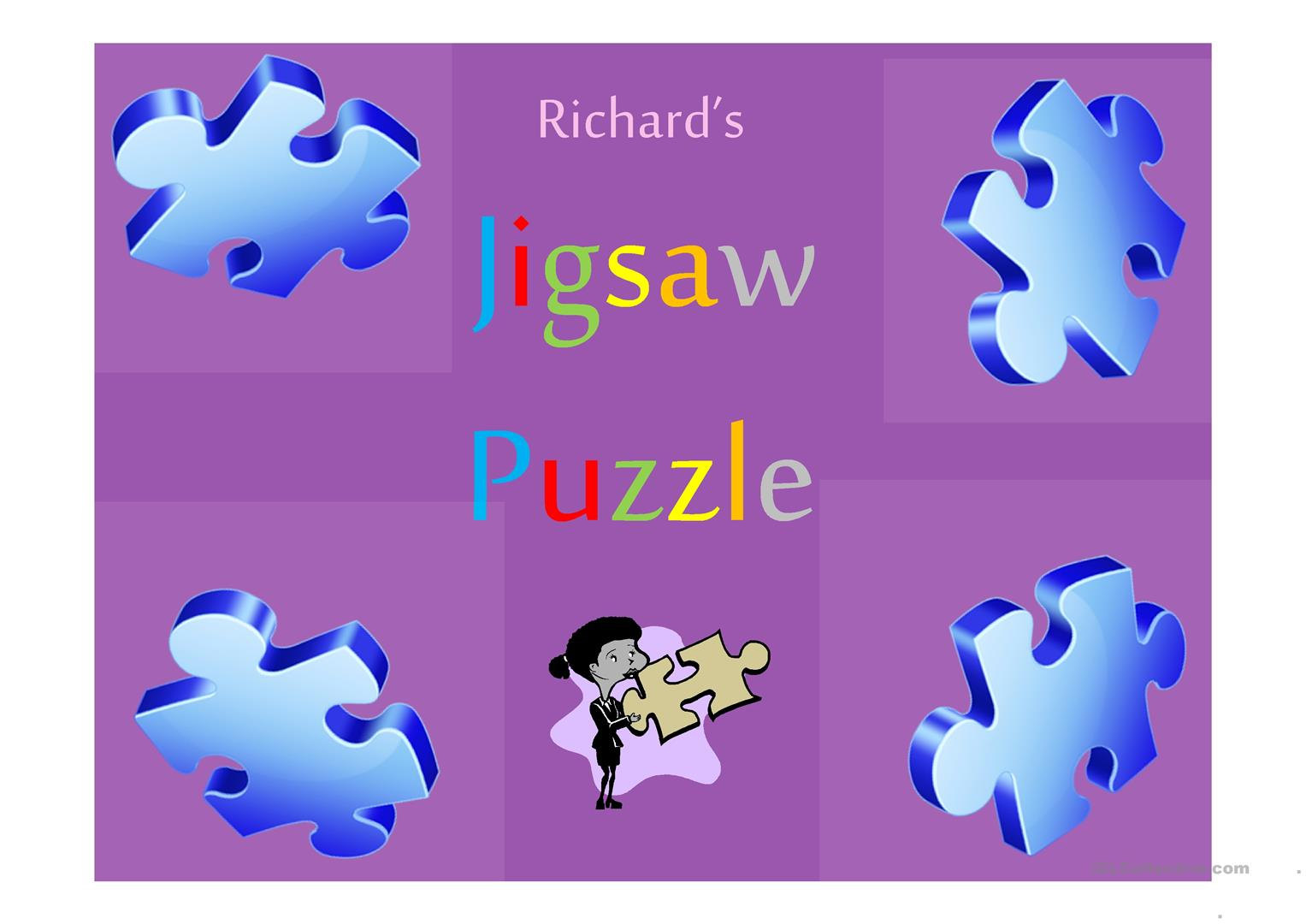 Ppt Jigsaw Puzzle Game Toys Worksheet