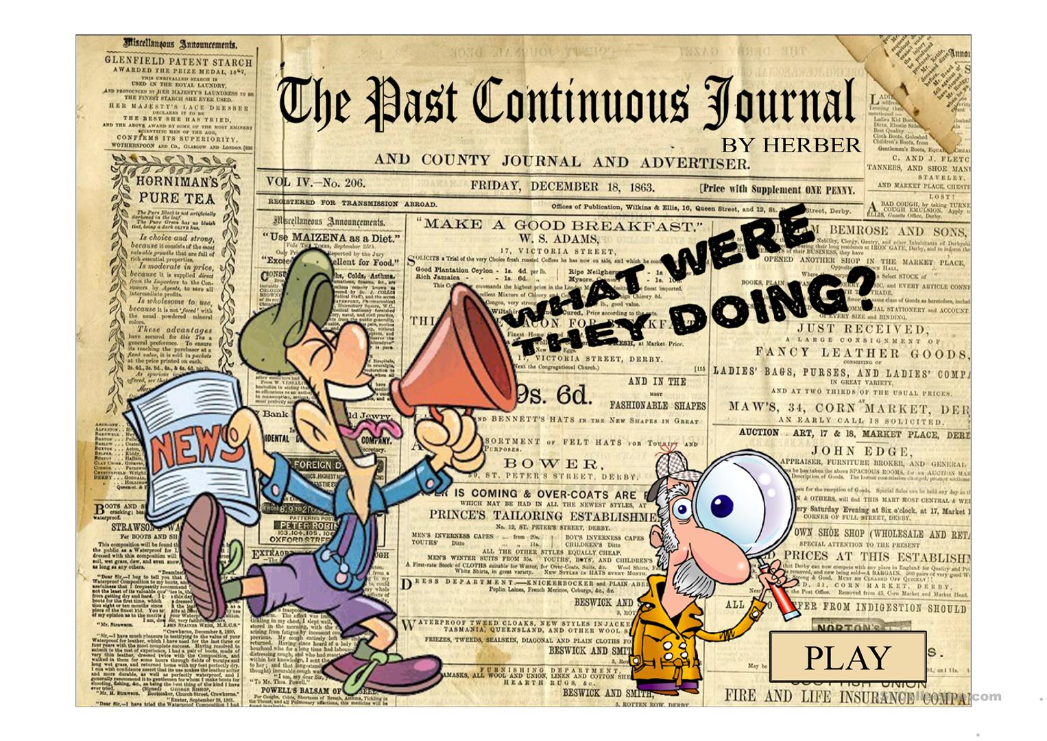 The Past Continuous Journal Ppt Worksheet