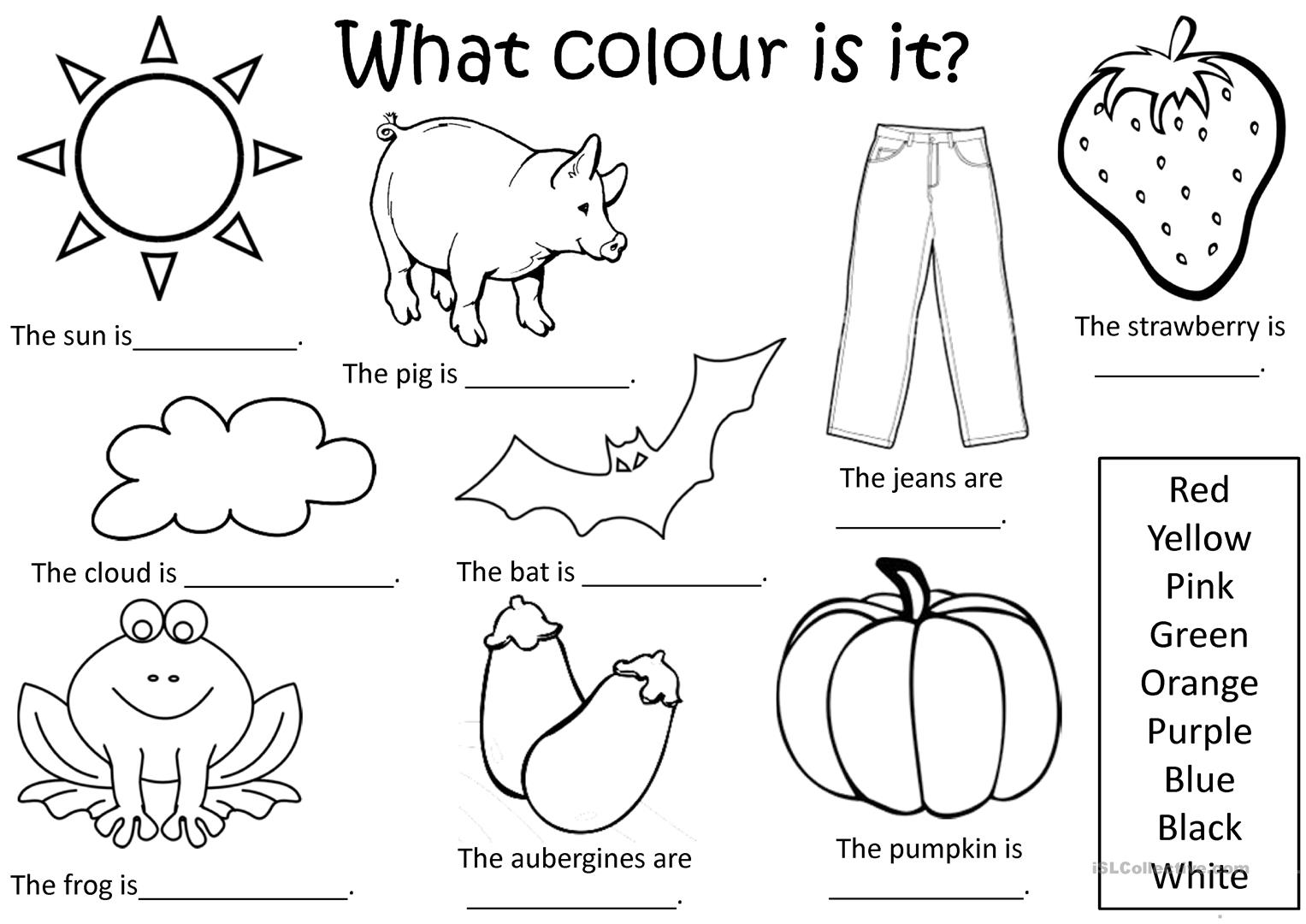 What Colour Is It Worksheet