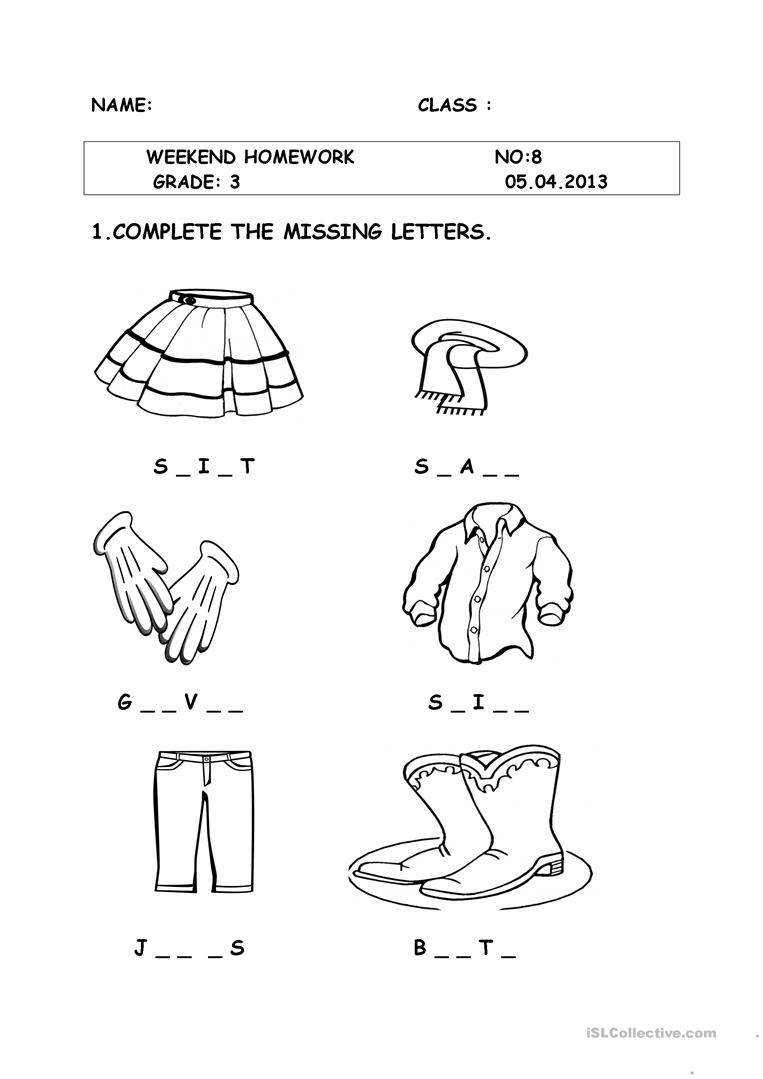 medium resolution of clothes - English ESL Worksheets for distance learning and physical  classrooms