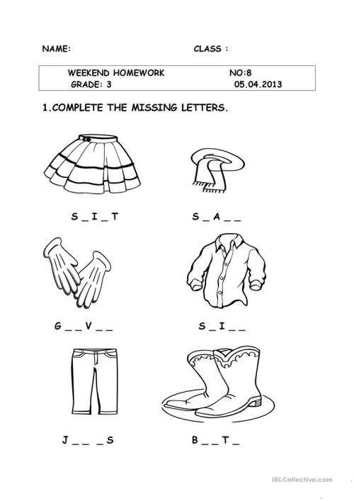 small resolution of clothes - English ESL Worksheets for distance learning and physical  classrooms