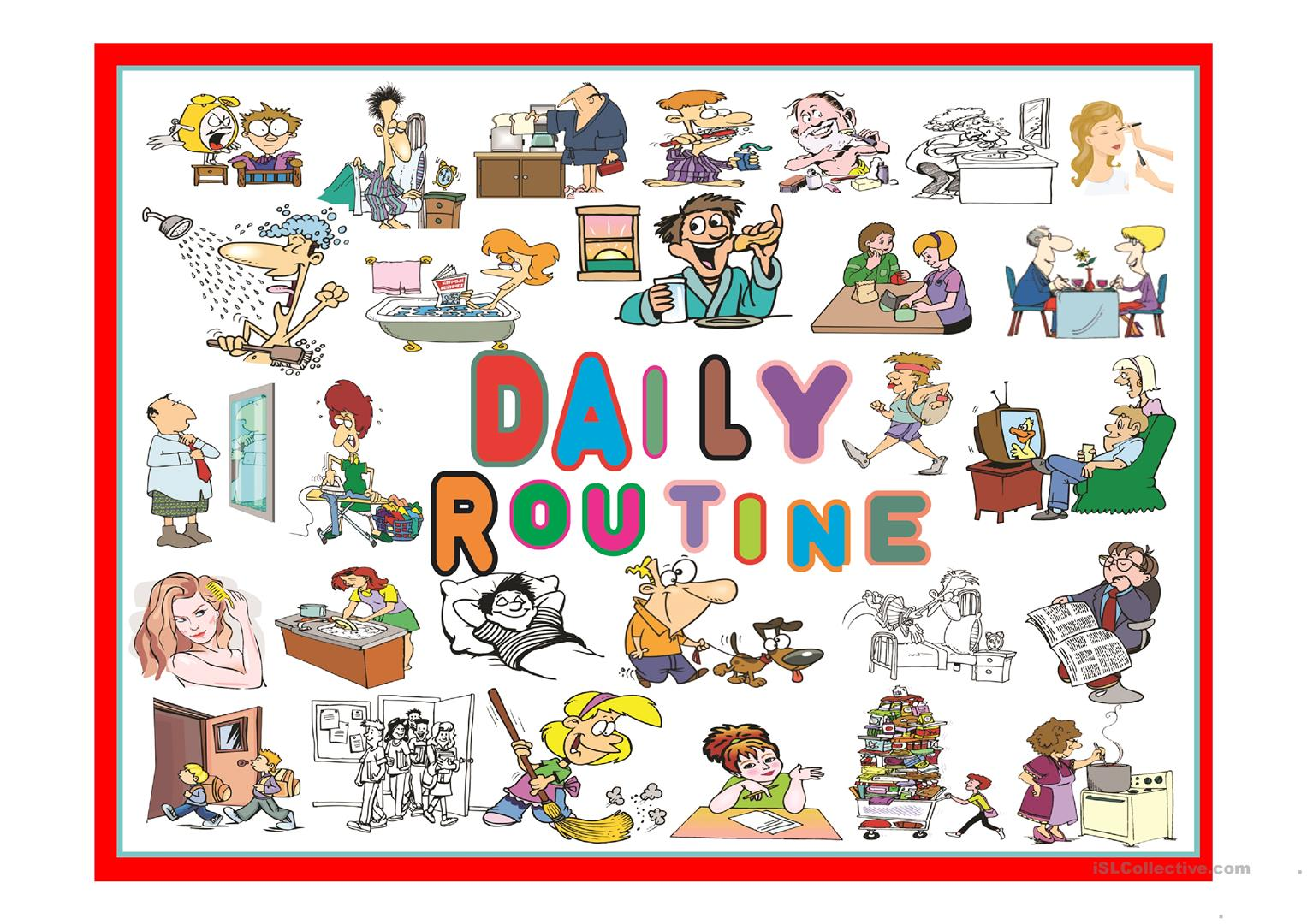Daily Routine Part 2 Worksheet