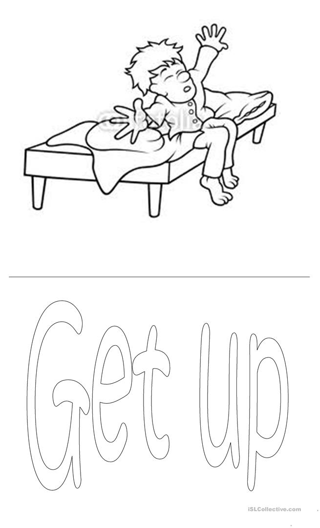 Daily Routine Worksheet Sketch Coloring Page