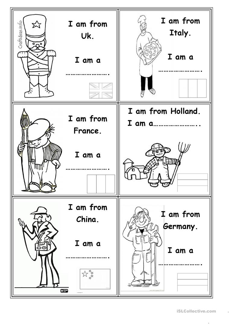hight resolution of Occupations and countries - English ESL Worksheets for distance learning  and physical classrooms