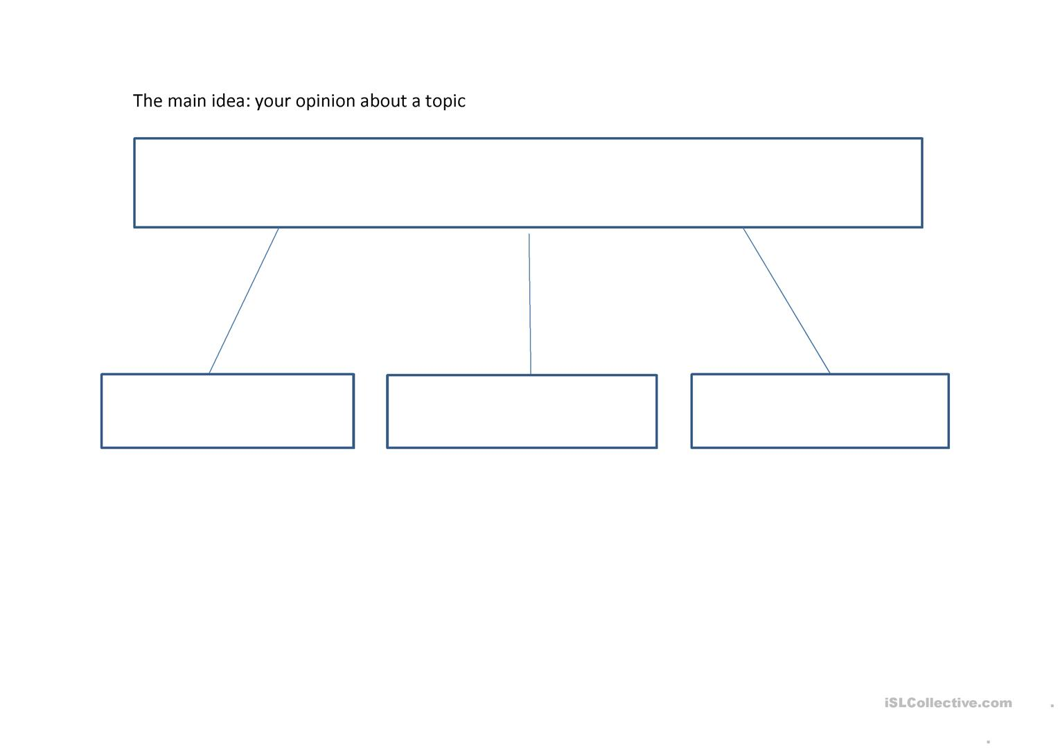 Opinion Paragraph Best Job Graphic Organizer With